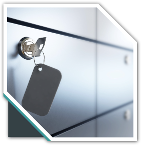 Safe Deposit boxes with key